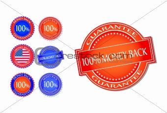 Money Back Guarantee Seal Set