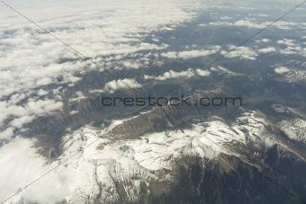 flight over Alps