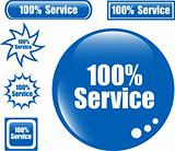 SERVICE 100% Web Button