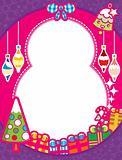 Christmas Frame Background with Gift Box