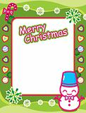 Christmas Frame with Snowman