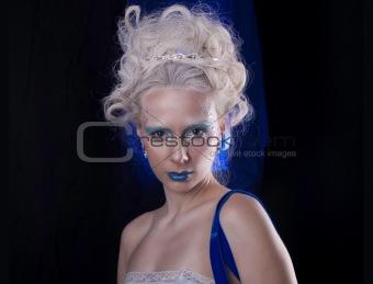a blue portrait