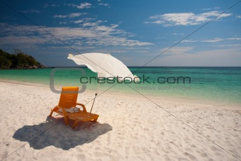 Beach Chairs White Sand Koh Lipe