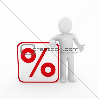 3d man sale percentage red