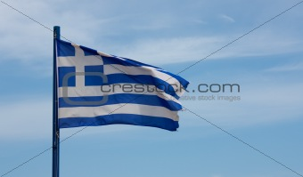 greek flag sky