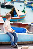 Little boy in Malta