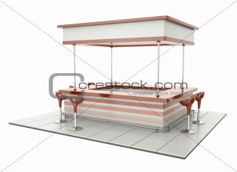 Counter with chairs