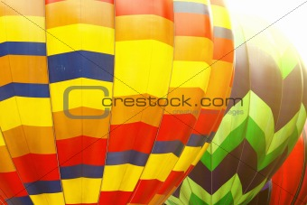 Photo of color hot air balloon and sunny day