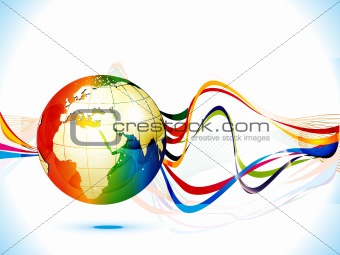 abstract colorful corporate background globe