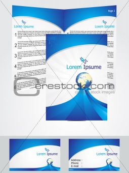 abstract blue corporate id template