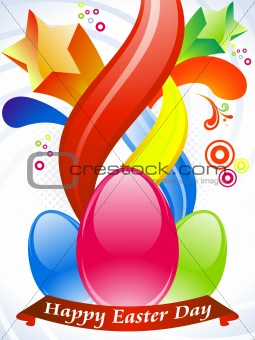 abstract colorful easter wallpaper