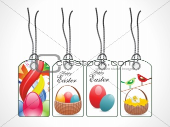 abstract colorful easter tags