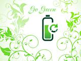 abstract green eco background with refresh icon