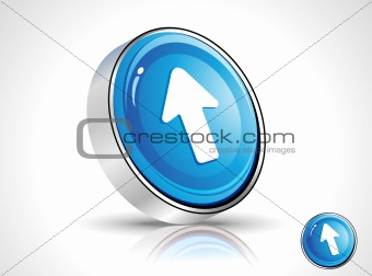 abstract blue shiny cursor icon