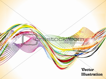 abstract colorful shiny wave background