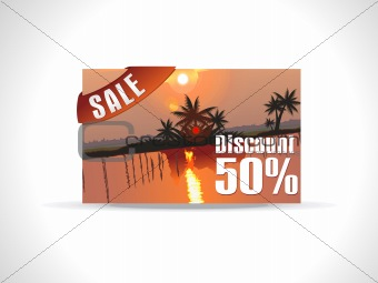 abstract colorful discount card