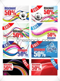 abstract multiple colorful discount card