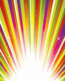 Vector starburst background
