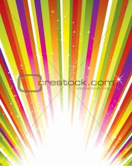 Vector starburst background