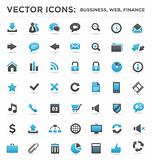 Vector business web finance icons set