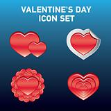 Valentine's day vector icon  set