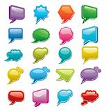 Bright colored, glossy web chat boxes