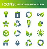 ICONS: green, environment, recycle,ecology