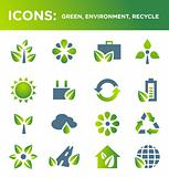 ICONS: green, environment, recycle, ecology