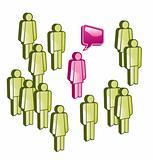 Social network of people talking