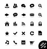 WEB and COMMUNICATION vector icon set
