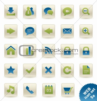 WEB and COMMUNICATION Vector icon/button set