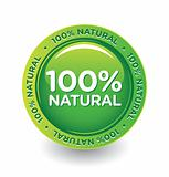 Vector Green 100 % Natural Label