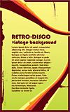 Retro-Disco vintage Background with copy-space for your text