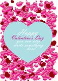 Valentine Day card with hearts - vector illustration