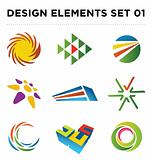 Image of Vector Abstract Logo Icon Design Set