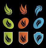 Vector illustration of basketball icons,logos,shields