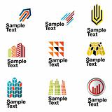 Vector Architectural Logos with place for your text.