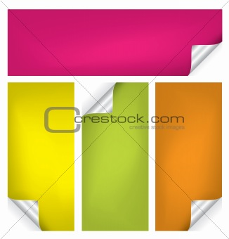 Vector set of colorful realistic stickers/tags