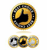 "Vector set of ""Best Choice"" labels / seals / signs"