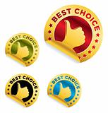 "Vector set of ""Best Choice"" stickers"