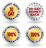 Vector set of gold and silver labels / seals / signs for retail