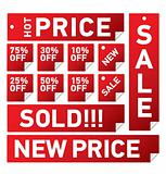 Vector set of SALE  tags for retail