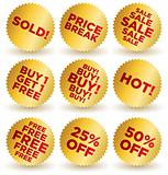 Set of vector round stickers / labels / seals / signs for retail