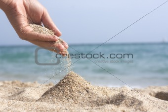 hand with sand