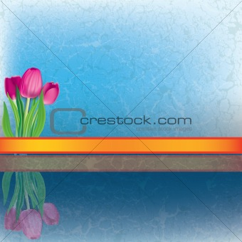 abstract floral illustration with tulips