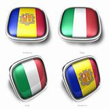 Andorra and Italy 3d flag button