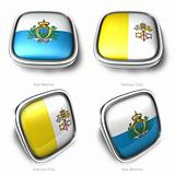 San Marino and Vatican City 3d flag button