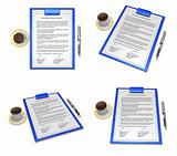 3d business contract document
