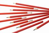 Red writng pencils 