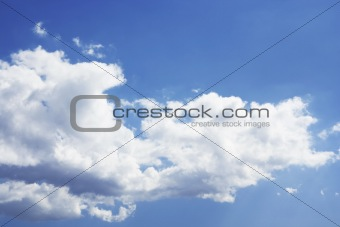 Blue and cloudy sky background